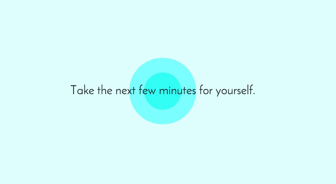 Relax with the 5 Minute Meditation site