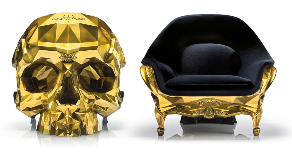 Gold Skull Armchair Boing Boing