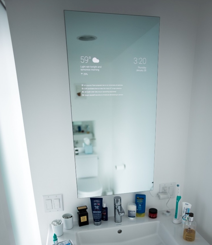 Bathroom Mirrors Amazon diy smart bathroom mirror / boing boing