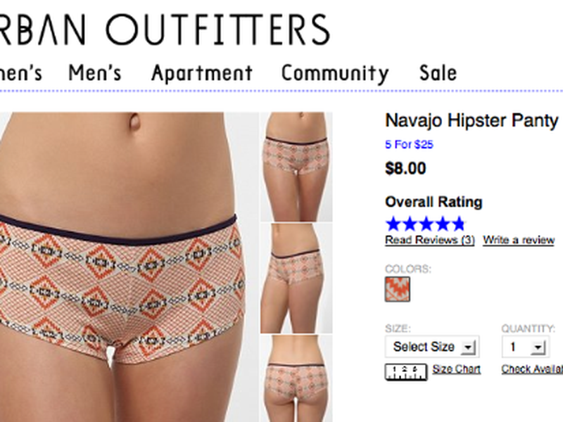 Urban Outfitters' 'Navajo Hipster Panty' lawsuit still ongoing