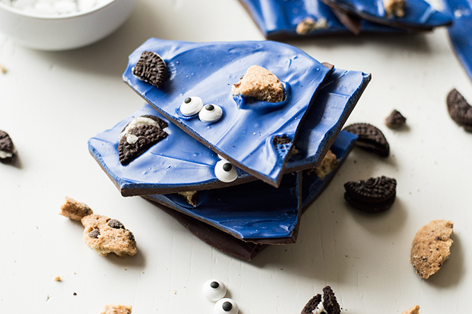 Bake: Cookie Monster bark