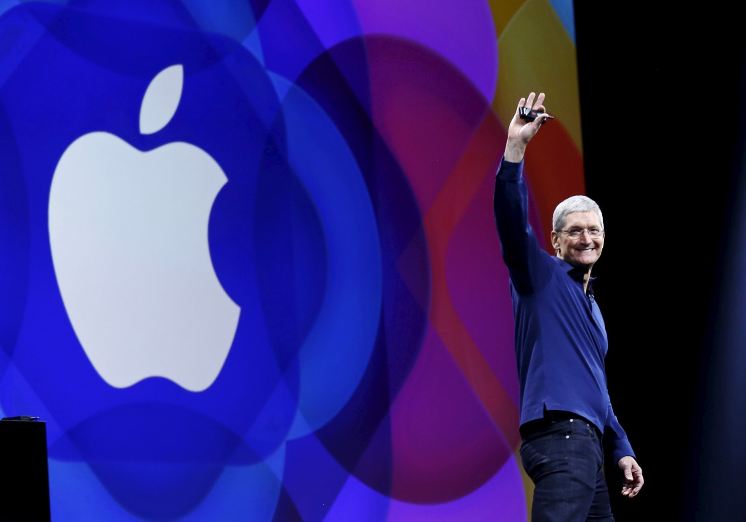 Apple CEO Tim Cook at 2015 WWDC. REUTERS