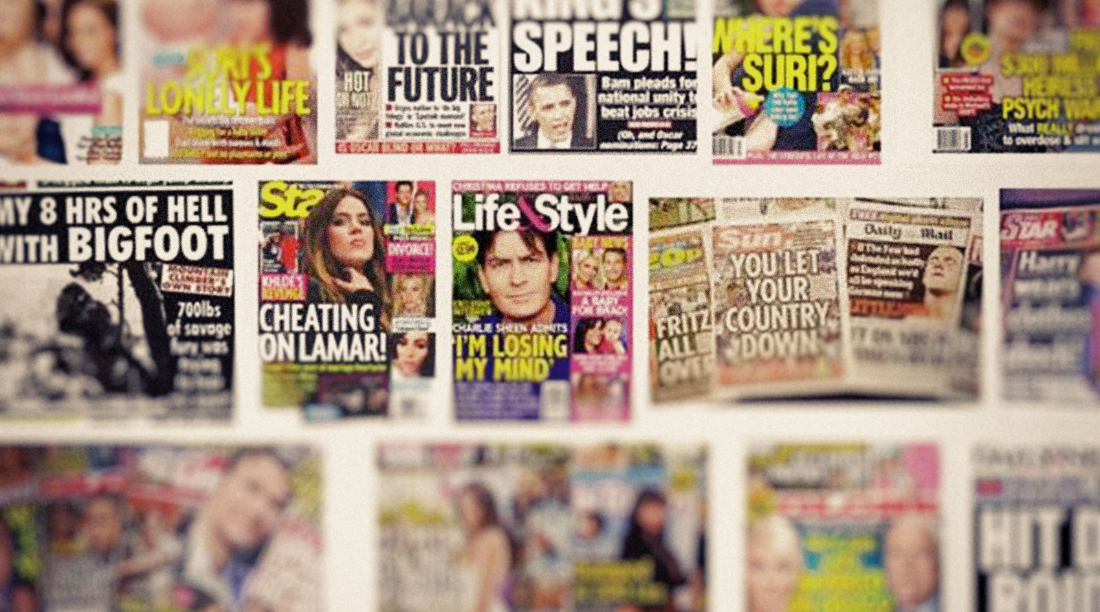 Trumps wild imaginings promulgated in tabloids alongside equally fact-challenged celebrity news