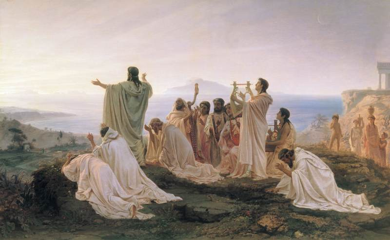 Pythagoreans celebrate sunrise by Fyodor Bronnikov (1869)