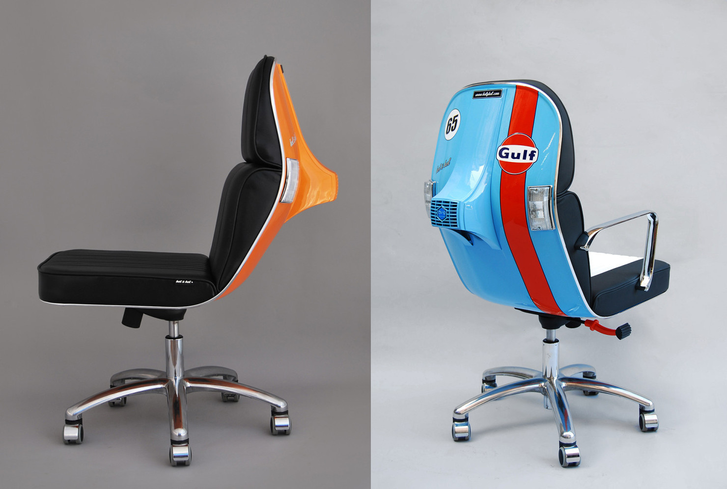Old Office Chair office chairs made out of old vespa scooters / boing boing