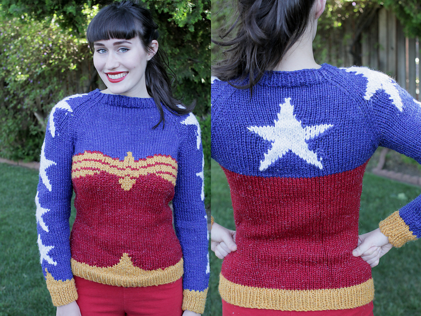 Amazing Fan Made Wonder Woman Sweater Pattern To Download And Knit
