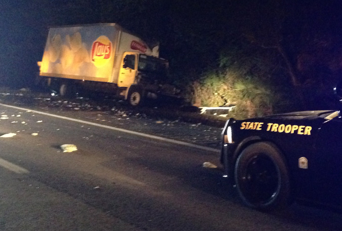 Two trucks spill beer and chips all over highway in The Most Florida