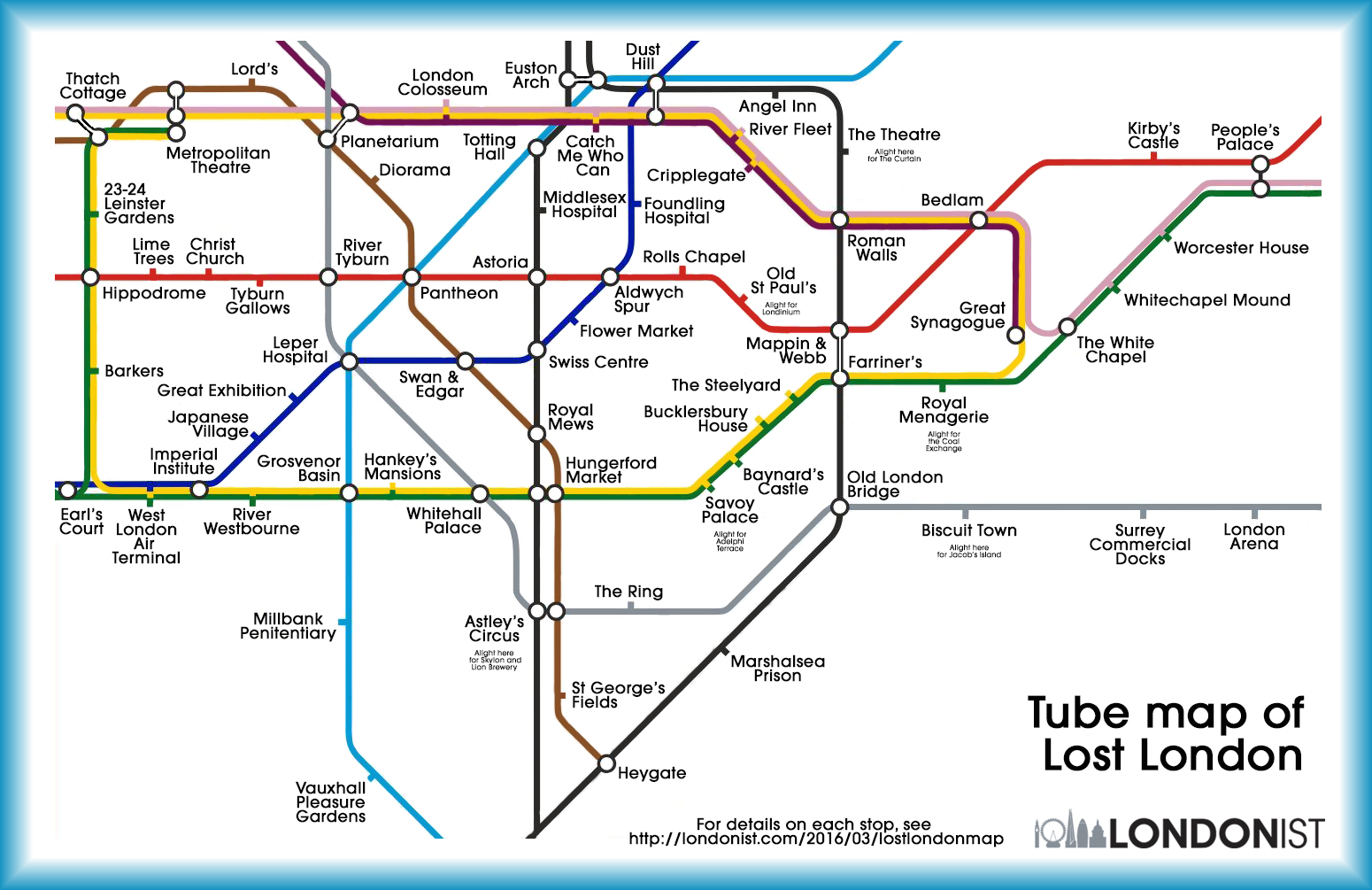 tube map of lost london