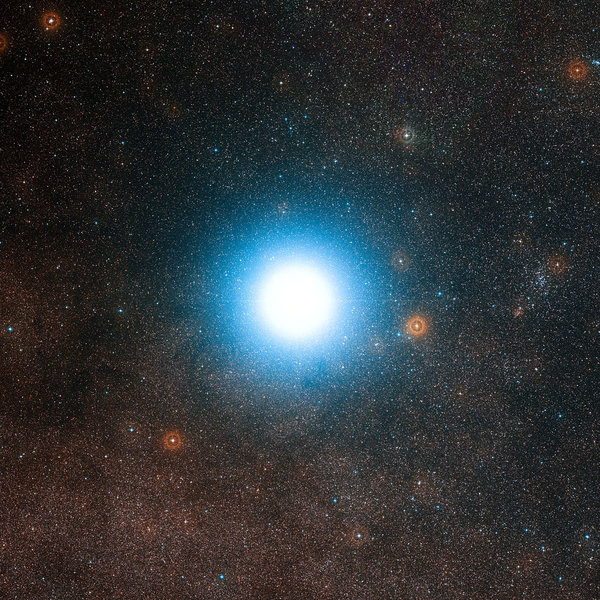 Alpha Centauri, the closest star system to Earth's solar system. [European Southern Observatory]
