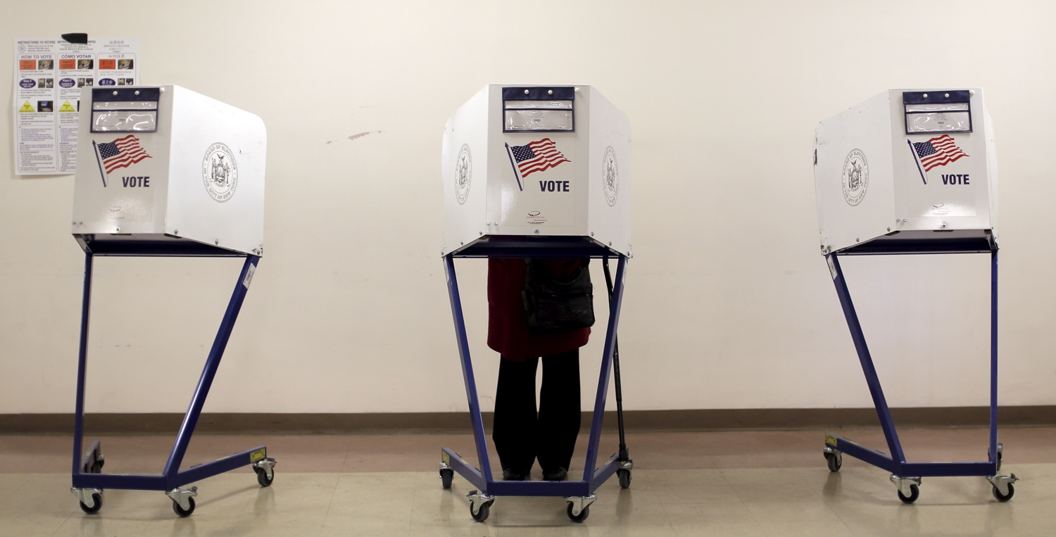 Polling station in NYC during the New York primary elections, April 19, 2016. REUTERS