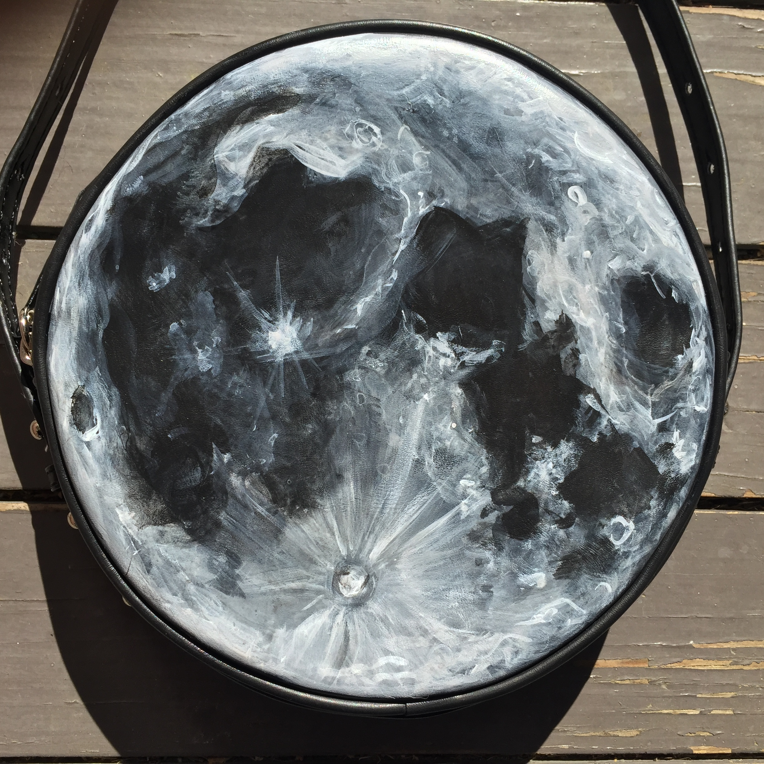How To Paint The Moon On A Leather Bag Or Just Order One