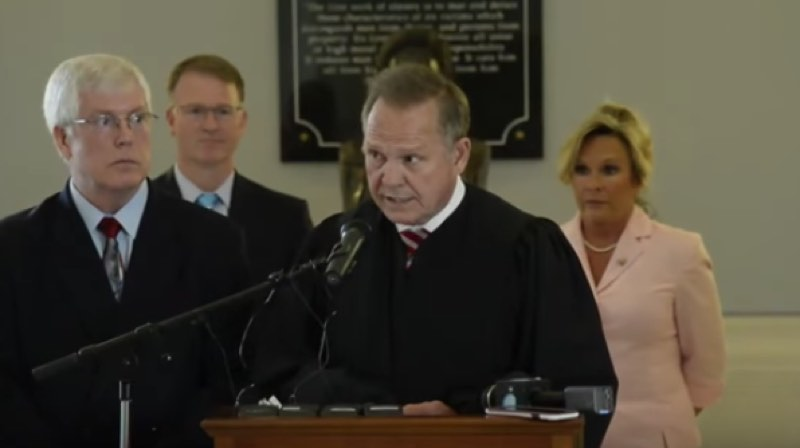 'Atheists, homosexuals and transgender individuals' upset Alabama's chief justice