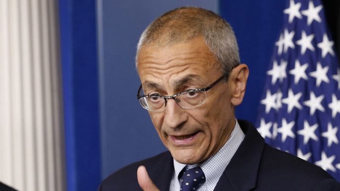 John Podesta, during his service in the Obama administration. (Reuters/Kevin Lamarque)