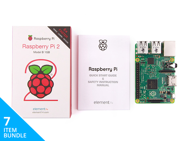 Learn and create with the Complete Raspberry Pi 2 Starter Kit - now 85% off