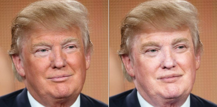 What Trump Would Look Like Without His Weird Orange Tan
