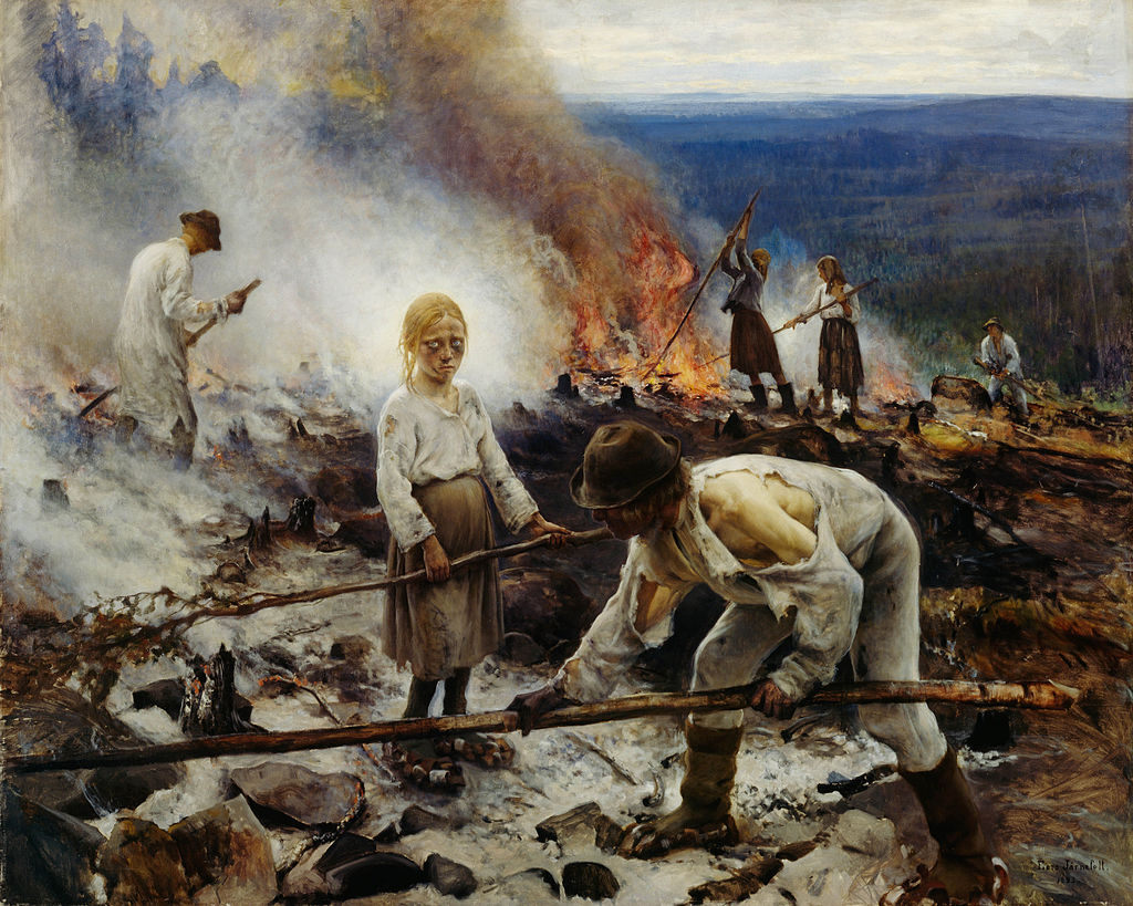 """Programmers at work maintaining a Ruby on Rails application"" Eero Järnefelt,  Oil on canvas, 1893"