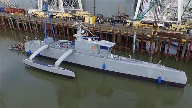 The U.S. 'Sea Hunter' unmanned ship, a DARPA project.