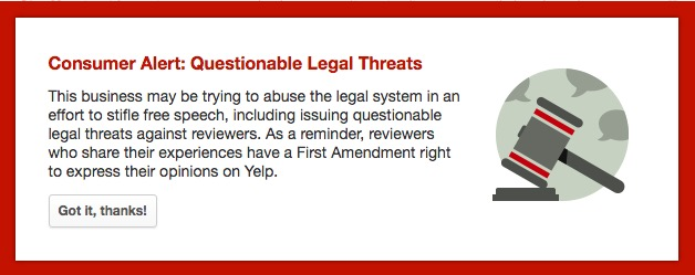 """Yelp""""s page for Prestigious Pets now has this warning"""