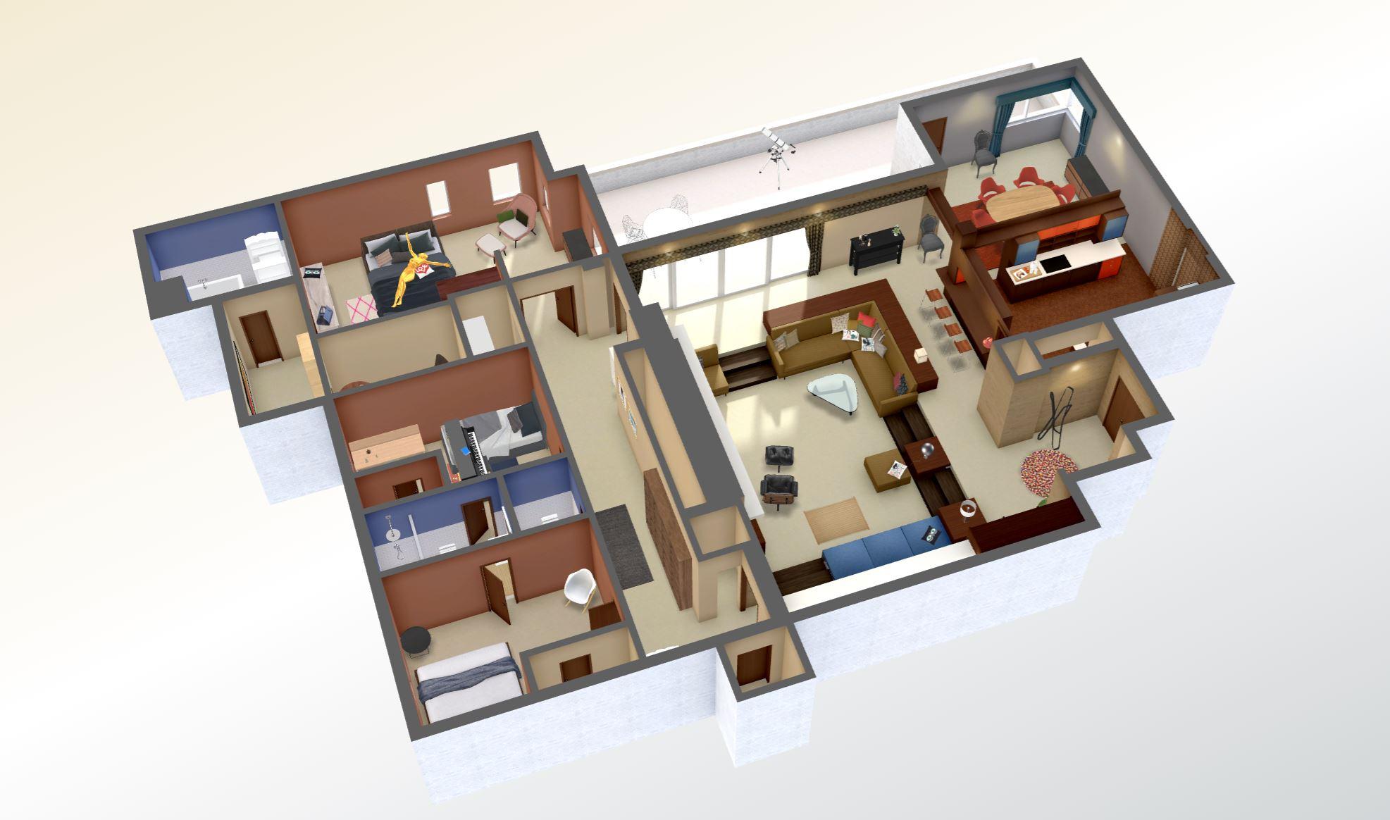 Explore Don Draper's apartment in 3D