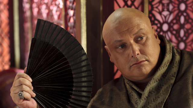Varys fanning himself.