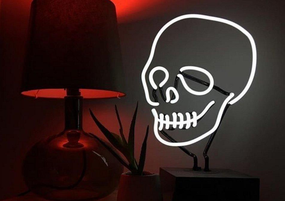 Neon skull desk lamp boing boing aloadofball Gallery