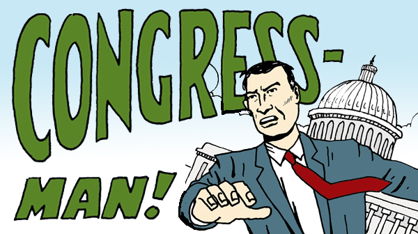 Tom the Dancing Bug 1292 congress-man - thoughts and prayers