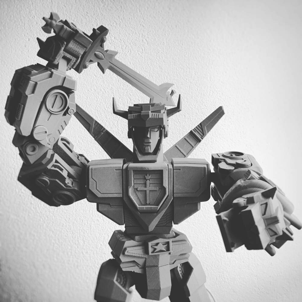 3D printable, fully articulated Lion Force Voltron
