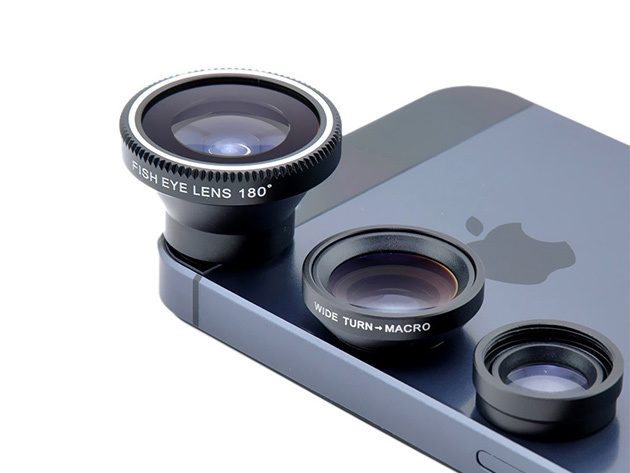Snap pro-quality photos with the Acesori 5 Piece Smartphone Camera Lens Kit - now 80% off