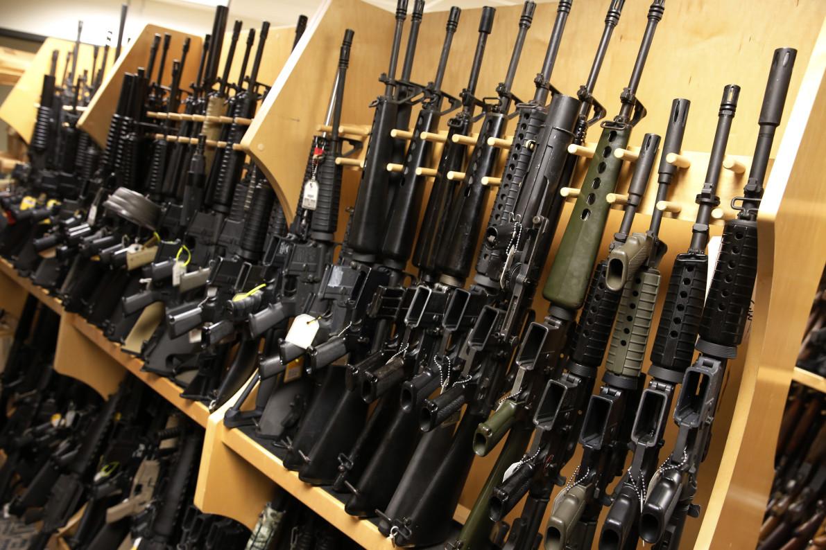 AR-15 rifles. REUTERS