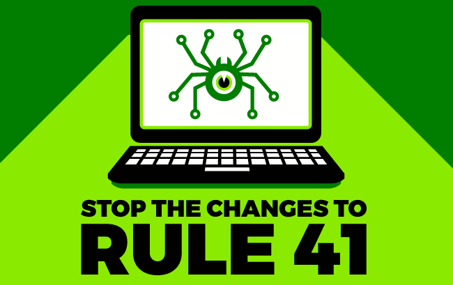 Don't let the government hack your computer. Tell Congress to stop changes to #Rule41.