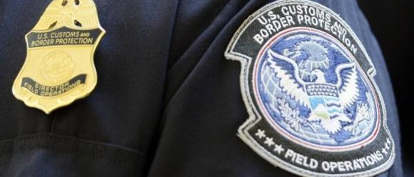 A U.S. Customs and Border Protection arm patch and badge. [Reuters]