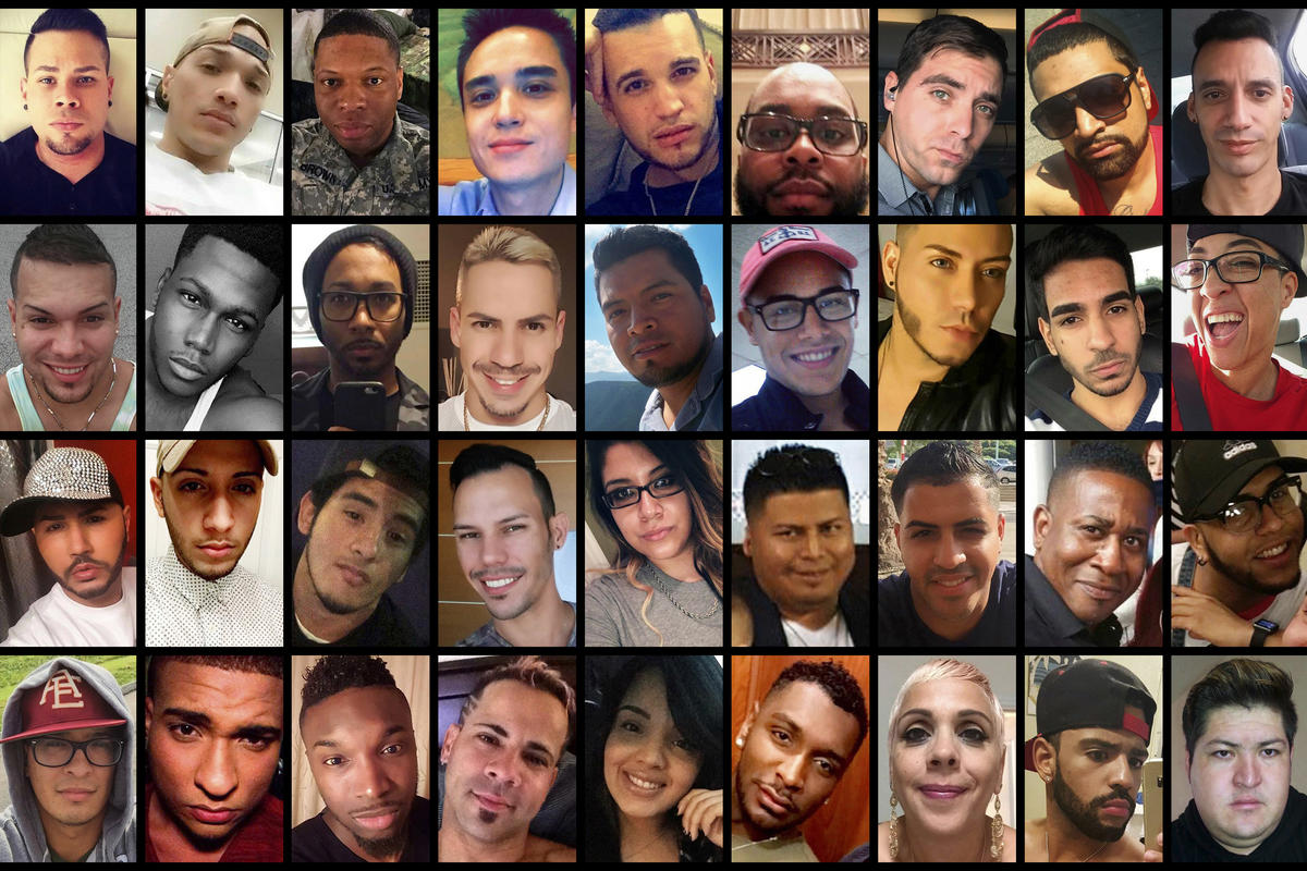 Victims of the mass shooting early Sunday, June 12, 2016, at the Pulse nightclub in Orlando, FL.