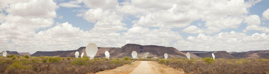 The MeerKAT radio telescope. Photo: SKA South Africa.
