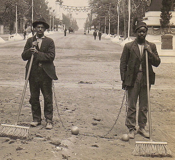 Chain_Gang_Street_Sweepers,_1909