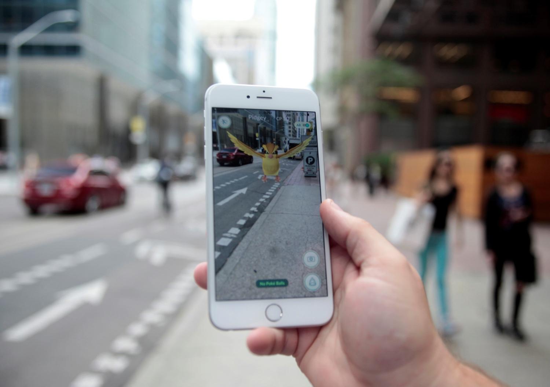 """Pidgey"" Pokemon in the Pokemon Go mobile app. Toronto, Ontario, Canada July 11, 2016. REUTERS"