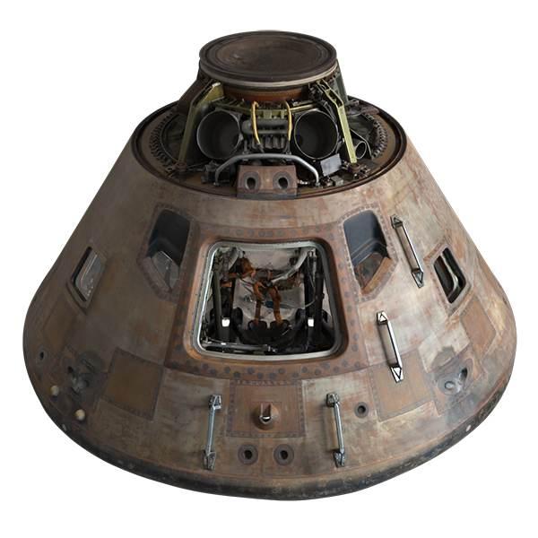 High-res 3-D model of Apollo 11 command module to explore ...