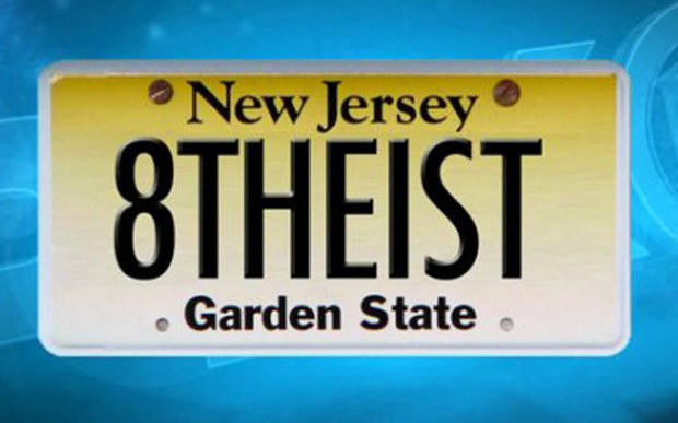 New Jersey woman will get to use '8THEIST' license plate