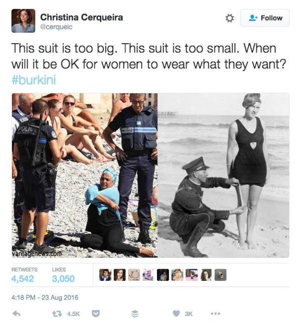 A short history of cops telling women what to wear at the beach