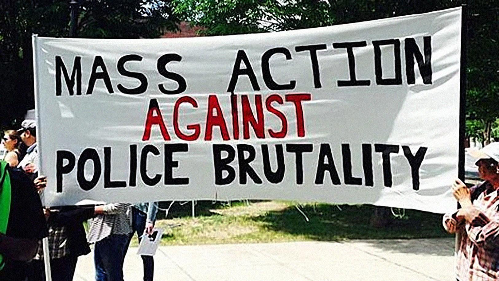 Protestors at a march in Roxbury, MA. Photo: CBS News