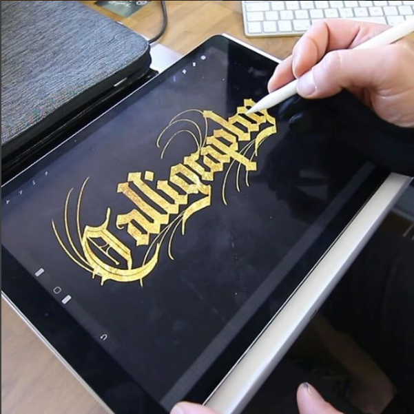 Gorgeous Calligraphy Using IPad And Modified Apple Pencil Boing Boing