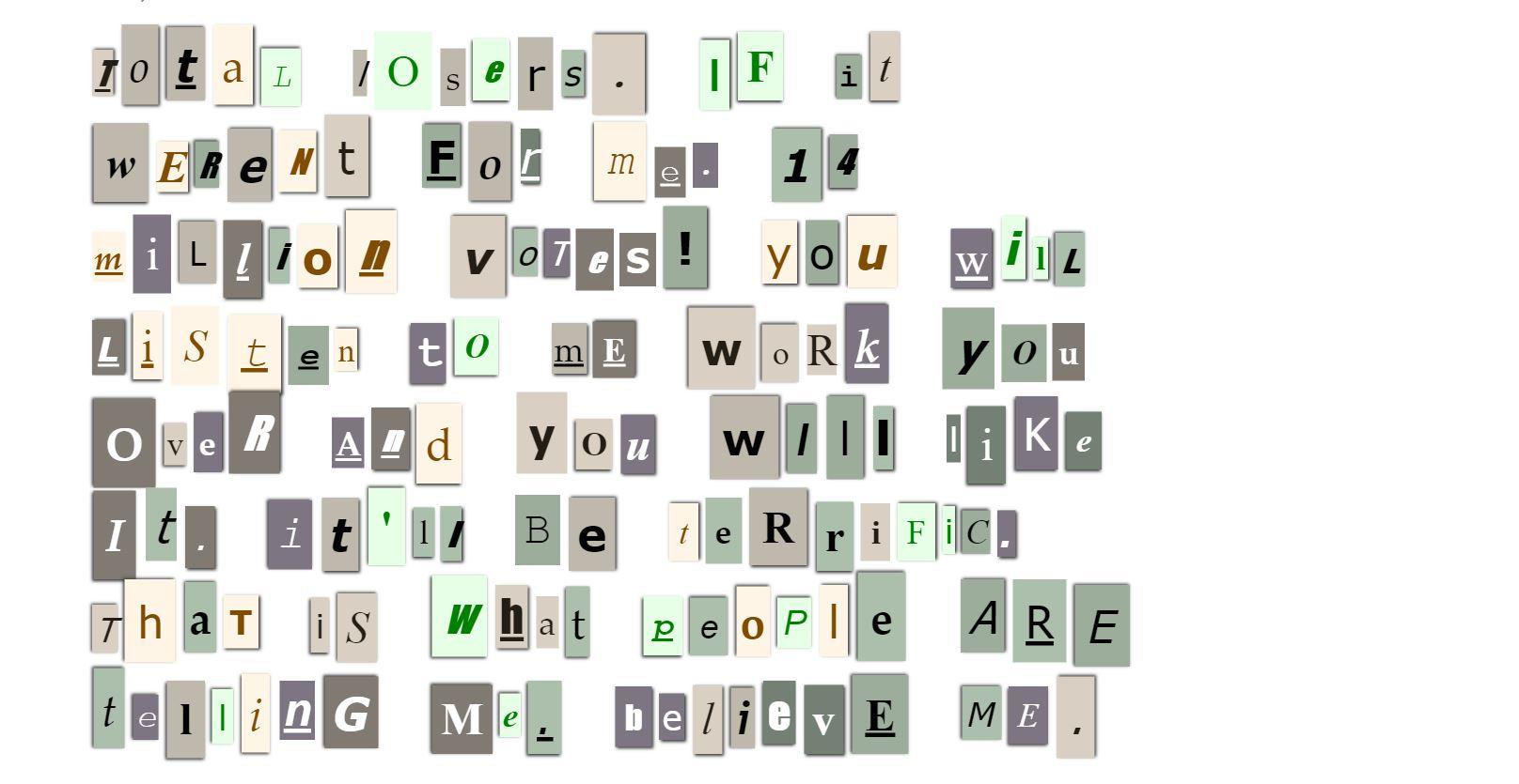 Ransom note generator boing boing ransom note generator spiritdancerdesigns Choice Image