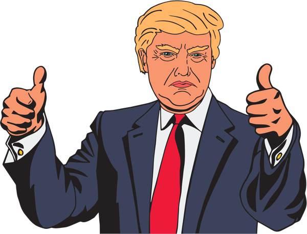 Donald Trump Vector Clipart by GDJ CC0 / Public Domain License.
