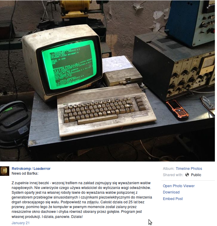 Polish auto repair shop uses uses a Commodore 64 to run its operations