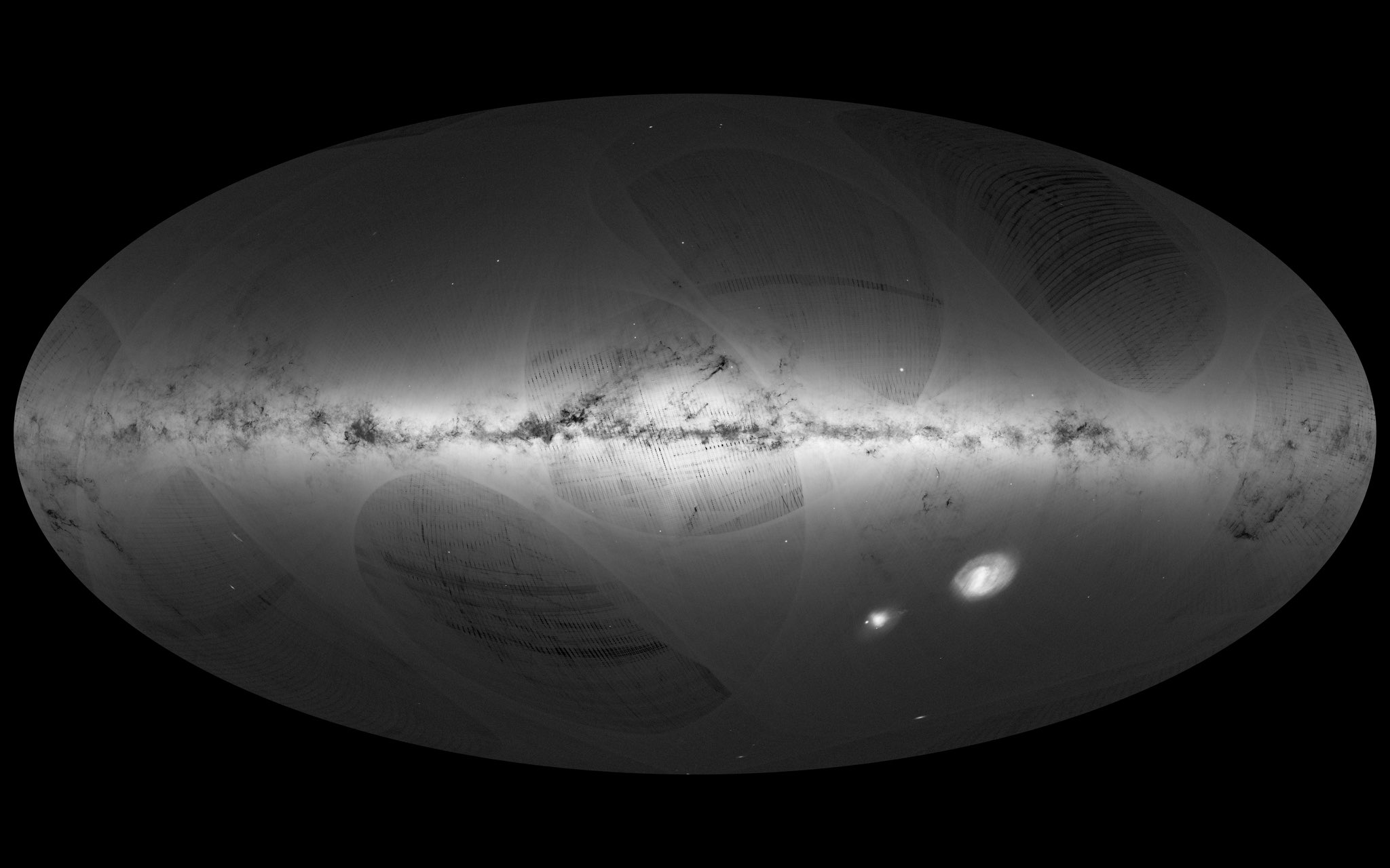 A map created by the European Space Agency's Gaia space telescope that shows a billion stars in the Milky Way.  (ESA)