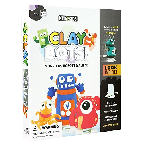 Make clay robots with your kids