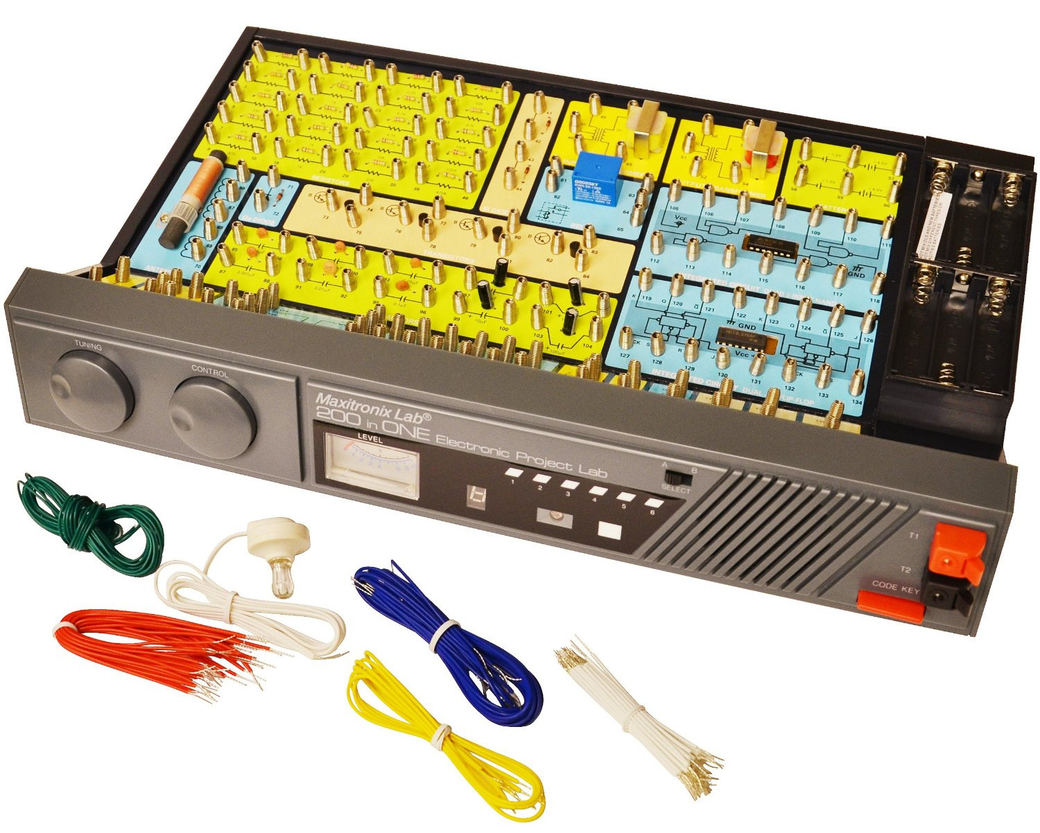 A modern rebuild of the Radio Shack 150-in-One electronics kit ...