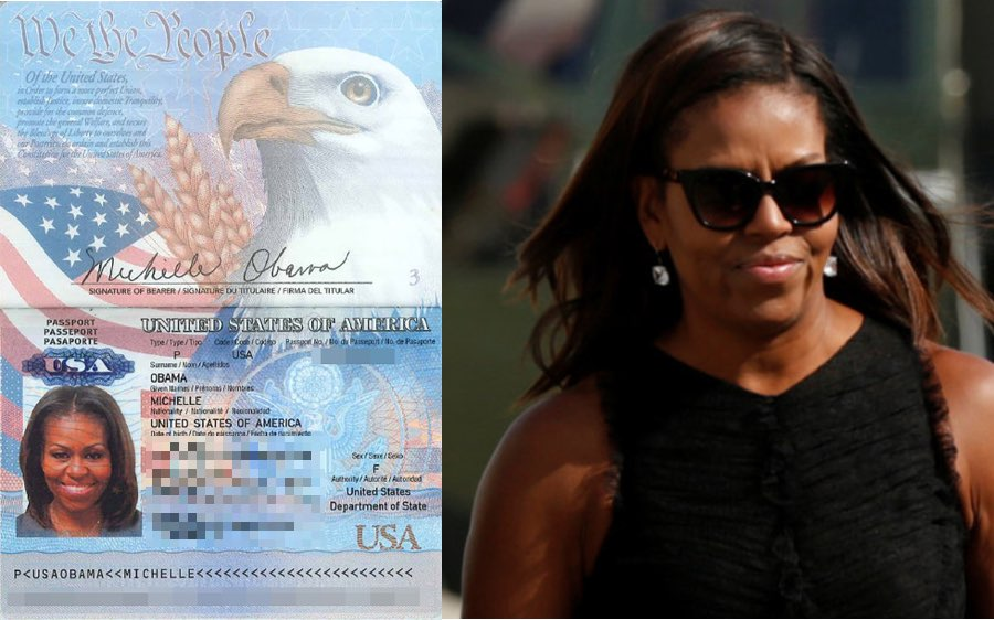 Michelle Obama's passport leaked in new hack blamed on