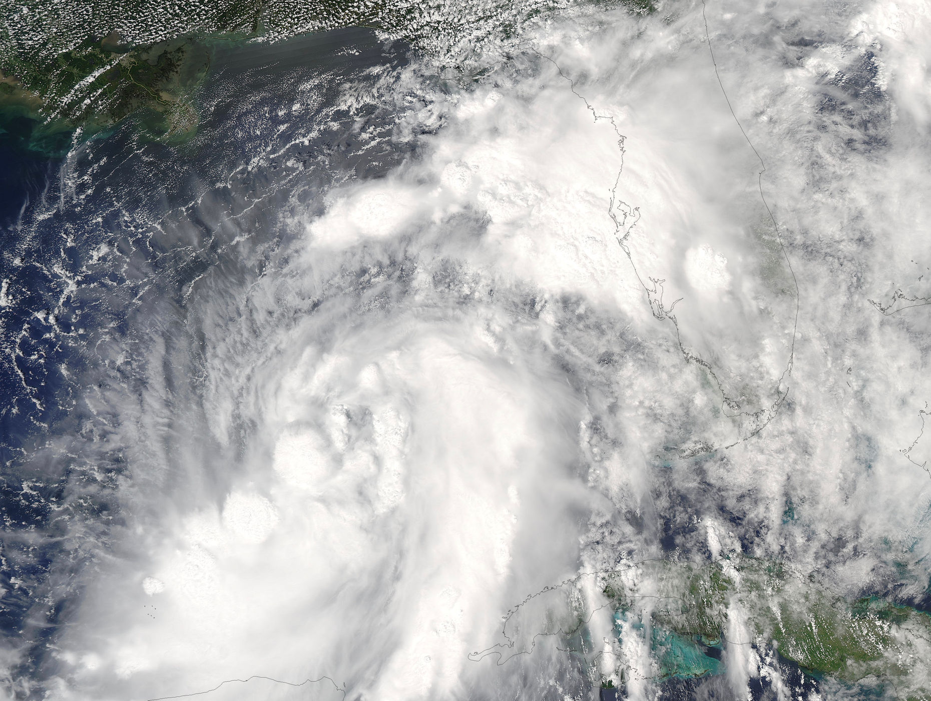 NASA's Aqua satellite captured tropical storm, now Hurricane Hermine ...