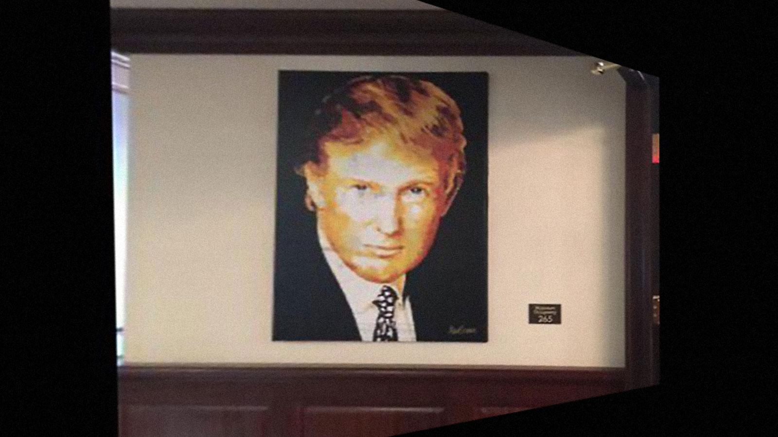The Trump Foundation just got sued. Polaroid-trump-painting
