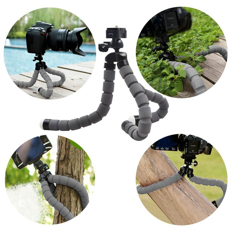 Flexible, grippy camera tripod plus bluetooth remote and smartphone holder for $4